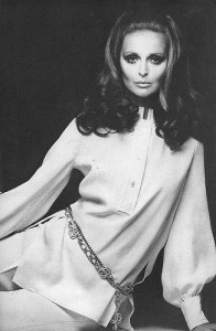Samantha Jones in Nina Ricci, Vogue 1968